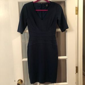 Tahari Dress, size 0, dark blueish greenish color